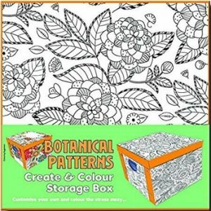 Collapsible Storage Box - Adult Colouring Botanical Patterns/***
