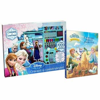 Set Creativ Frozen + Carte Regatul de Gheata Povesti si jocuri/***